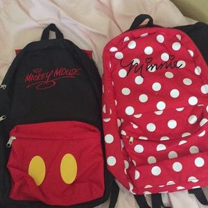 His & Her backpack